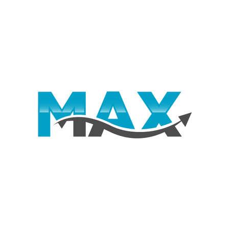 Word Max Logo Letter Typography Vector Template Design Illustration Иллюстрация
