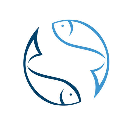 upside down Fish icon in trendy design style