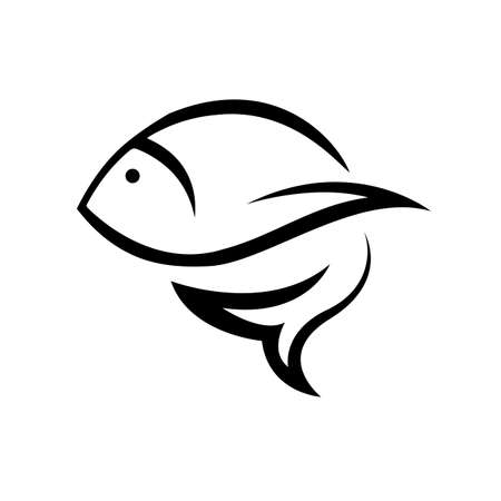 Fish icon in trendy design style