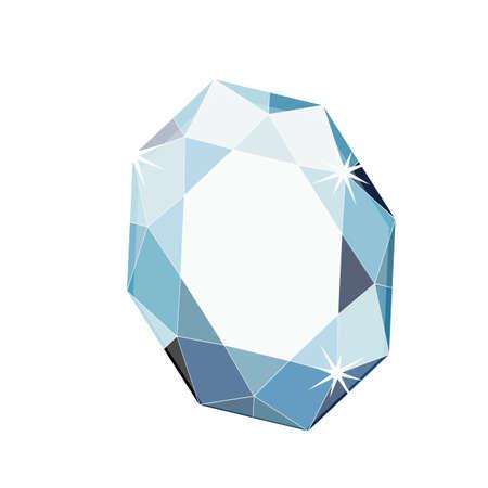 crystal blue stylish gemstone