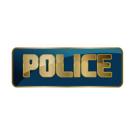 cool stylish custom police Lettering Typography   design vector illustration