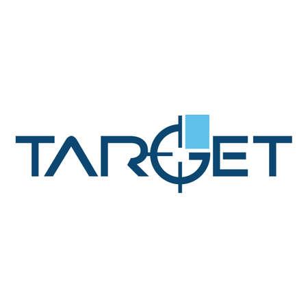 creative stylish lettering typography target   vector design concept illustration Ilustração
