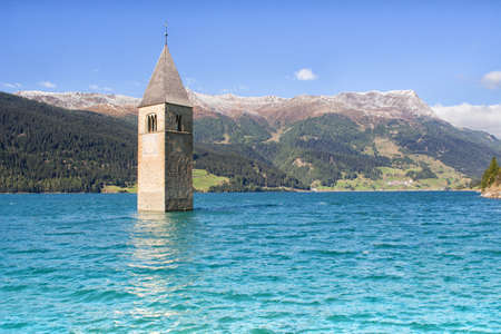 absorbed: Absorbed tower in the Reschensee