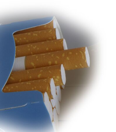 just opened pack of cigarettes Stock Photo - 13110246