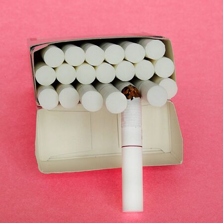 just opened pack of cigarettes photo