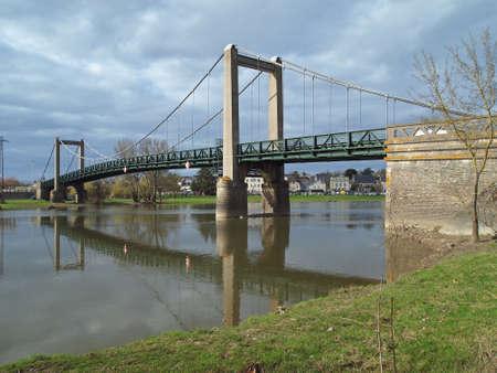 anjou: Puente colgante Bouchemaine, Anjou.
