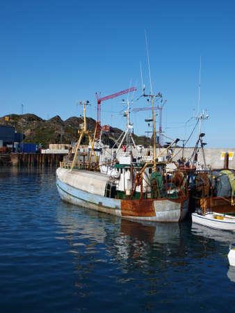 Old fishing ship in Sisimiut, Greenland.