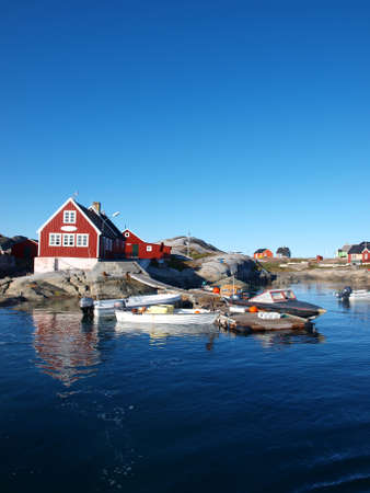 Oqaatsut  fisher village, Greenland.
