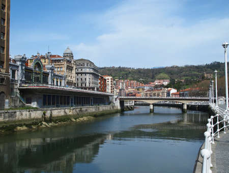 Bilbao Puente del Arenal, Spain. Stock Photo