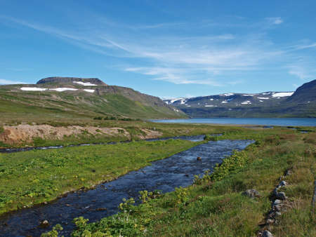 Hornstrandir reserve, Icelands northernmost peninsula. Banco de Imagens