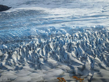 serac: Torres del Paine in fall, Glaciar grey from above, Chile.