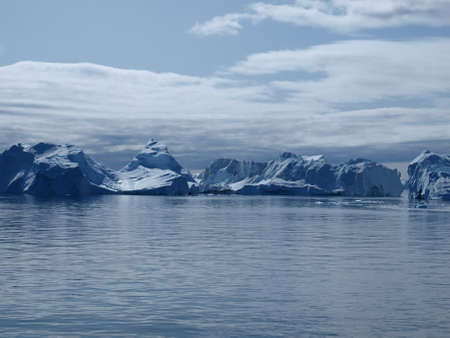 icefjord: Icebergs at the mouth of Ilulissat Icefjord, Greenland.
