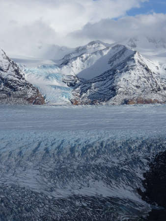 serac: Torres del Paine in fall, Glaciar grey , Chile.