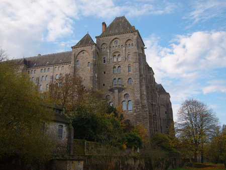 Solesmes Abbey, benedictine monastery,  France.    Banco de Imagens