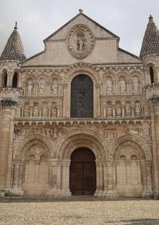 Notre Dame la Grande, Poitiers, France. Romanesque church, 11th and 12th centuries.