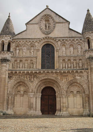 Notre Dame la Grande, Poitiers, France. Romanesque church, 11th and 12th centuries.