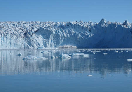 Situated on Greenland west coast about 80km north of Ilulissat. Stock Photo
