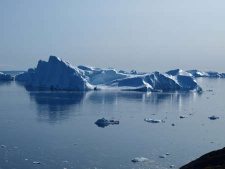 Icebergs at the mouth of Ilulissat Icefjord.