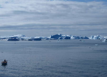 Iceberg west of Ilulissat harbor