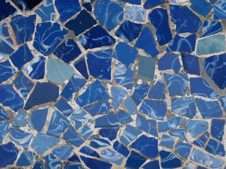 barcelone: Mosaic Tiles Gaudi - Barcelone, Espagne, parc Guell Banque d'images