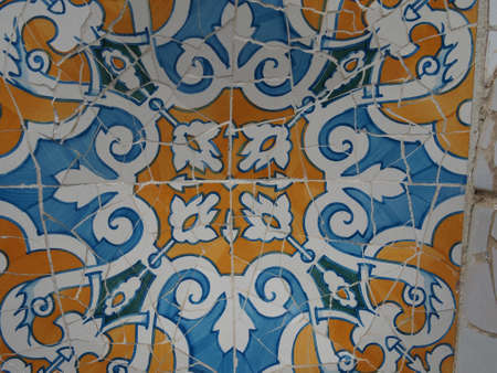 Gaudi Mosaic Tiles - Barcelona, Spain, park Guell photo