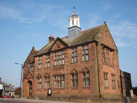 lindsay: Montrose Public Library, Scotland, it was designed in the Free Renaissance and Scots Baronial styles by J  Lindsay Grant