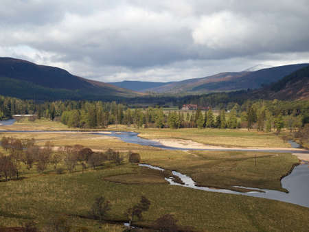 River Dee area, west of Braemar, Scotland, clouds and light. Reklamní fotografie
