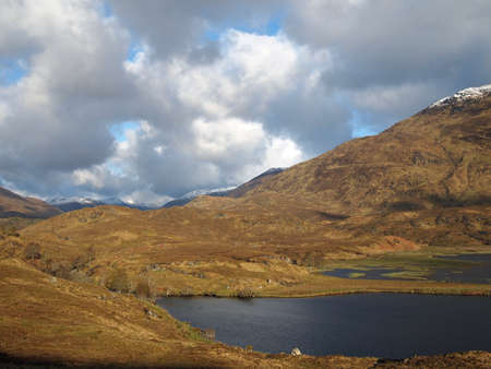 Eastern Loch Affric in may, Scotland.
