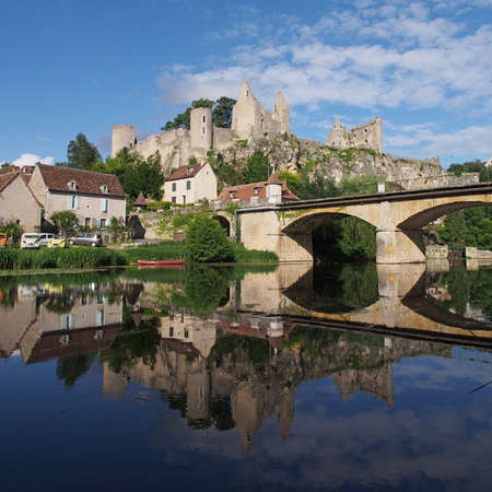 Angles sur Anglin has been selected as one of the most beautiful villages of France, with  castle ruins dating from  the 11th century  Stock Photo - 14360125