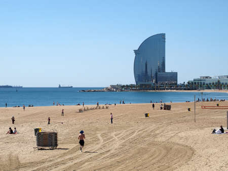 Barcelona beach, and Vela building, spring 2012