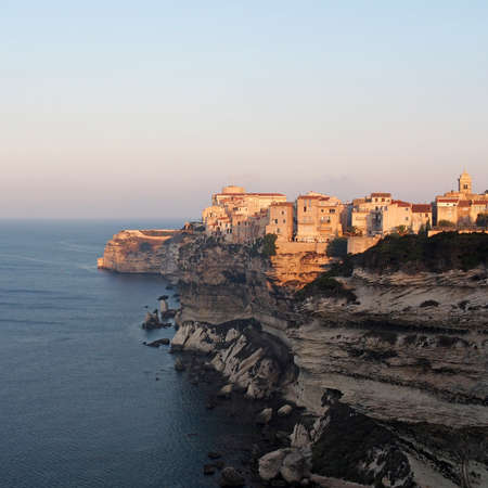Bonifacio at sunrise, Corsica, France photo