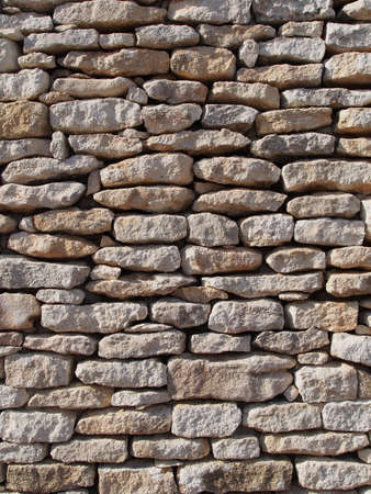 Close up of a mediterranean limestone wall Stock Photo