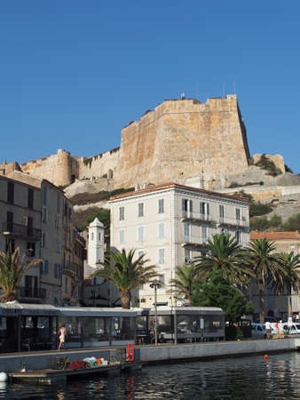 Bonifacio, august 2012, view of the genovese fortification from the marina