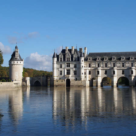 The Chateau de Chenonceau, situated on the Cher River. Stock Photo - 16232977