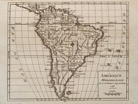 1748 mapa do vintage da Am