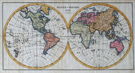 colored vintage world map     Editorial