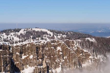 Metabief no inverno, jura montanha Fran