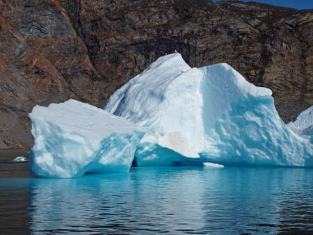 grounded: Grounded bergy bit on the coast north of Ilulissat Greenland