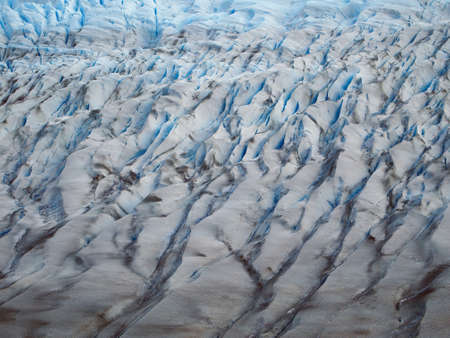 serac:  Glacier Grey seen from above on the Torres del Paine circuit. Stock Photo