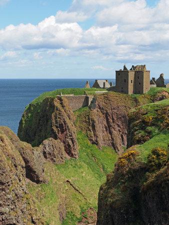 dunnottar castle: Dunnottar castle, Scotland north east coastline, may 2013