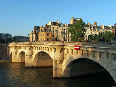 The oldest standing bridge over the Seine river in Paris