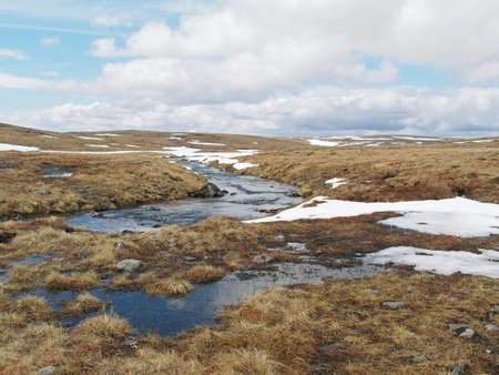 Cairngorms melted snow stream, Loch nan Cnapan area