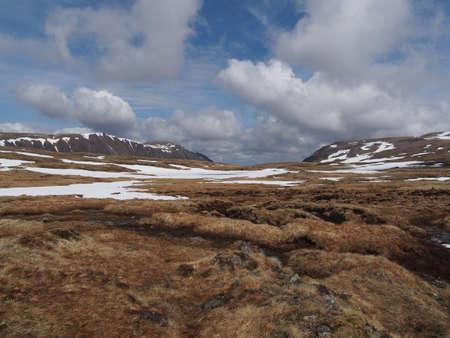 Cainrgorms plateau, south of Braeriach, looking toward Sgor Gaoith, Scotland in spring