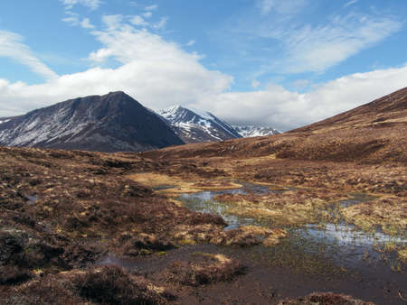 Cairngorms mountains, looking at Devil point to the left and Cairn Toul in the center background. photo