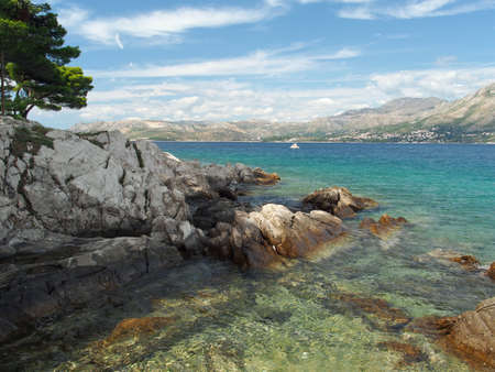 Cavtat peninsula shore