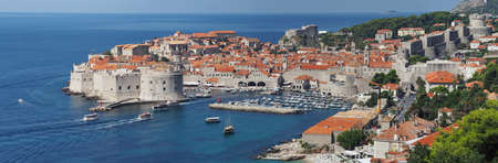 Dubrovnik, Croatia, panorama of the medieval city photo