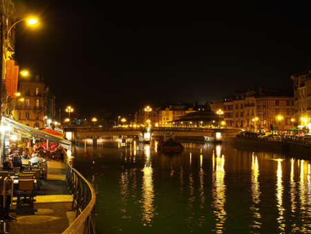 Bayonne, october 2013, Nive riverside at night, France