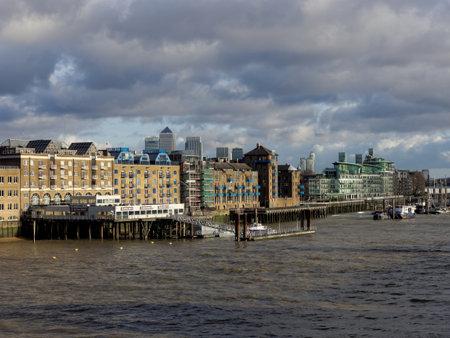 katherine: London Saint Katherine pier, december 2013 Editorial