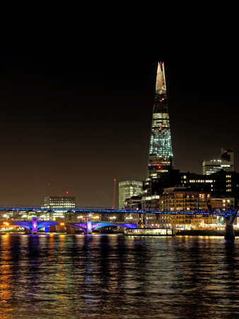The Shard seen from the river Thames, London, december 2013