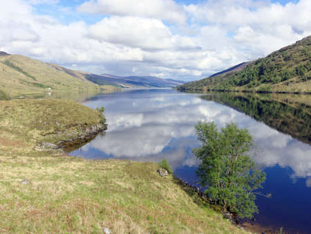 Loch arkaig seen from its western side, Scotland Stock Photo